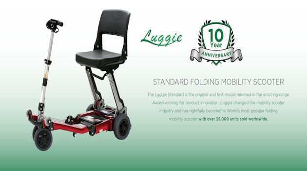 Luggie folding mobility scooter